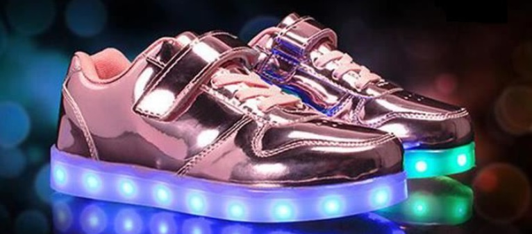 Chaussures rose lumineuses